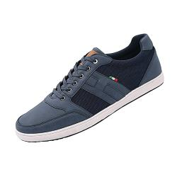 D555 KING SIZE MENS TRAINER SHOES WITH CANVAS PANELS KAIRO NAVY UK 12 - 15