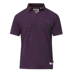 D555  SHORT SLEEVE CASUAL MARL  POLO WITH JACQUARD COLLAR BRELL BLACKBERRY MARL  3 - 8XL