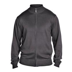 D555  LIGHTWEIGHT FULL ZIP SWEATER  MILBURN CHARCOAL