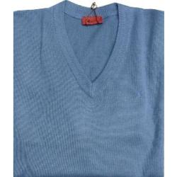 GABICCI Plain Wool Blend sweater DENIM BLUE 3XL
