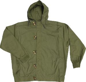 METAPHOR Cotton Jacket with hood KHAKI