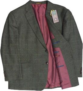 SKOPES Wool Blend Classic Check Jacket OLIVE SWALEDALE