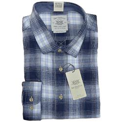 SALE - BAR HARBOUR WARM HANDLE  COTTON  LARGE CHECK  SHIRT BLUE 2 - 3XL