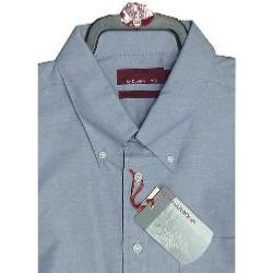 BAR HARBOUR Oxford Woven Shirts LONG SLEEVE-Teal