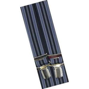 SPEICKER Long Braces NAVY STRIPED