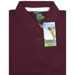 SALE - LOUIE JAMES Plain Polo Shirt with Pocket OX-BLOOD 8XL