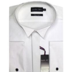 DOUBLE TWO Dress Shirt WHITE WING COLLAR