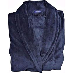 Espionage Fleece Dressing Gown DARK NAVY