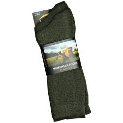 HORIZON HEAVY DUTY WORK WEAR SOCKS - BOTTLE GREEN