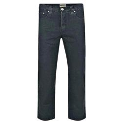 "KAM Big Man's  Stretch Jeans - BLACK  40 - 70"" S/R"