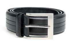 Duke Quad Stitch Black Belts HARLEY