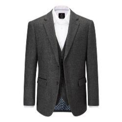 SKOPES  HERITAGE COLLECTION  WOOL BLEND HERRINGBONE JACKET CHARCOAL KINLOCH