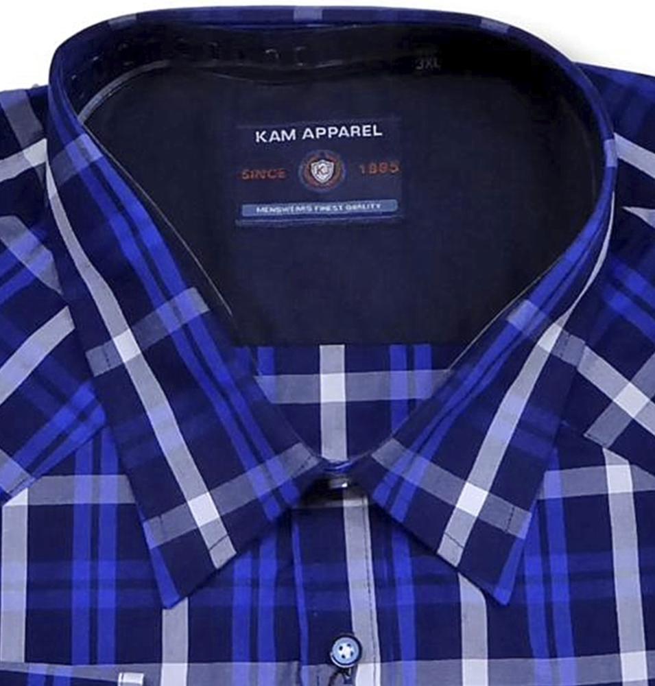 f072db717 big mens Kam check shirt - bigmenonline - large mens clothing