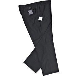 OAKMAN Crease resistant Smart-Casual trousers  BLACK