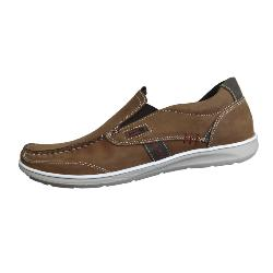 POD CASUAL LEATHER SLIP ON RAVEN - BROWN 13 - 15 UK