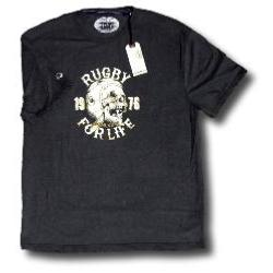 RAGING BULL 'Rugby for Life Tee'  CHARCOAL 5XL