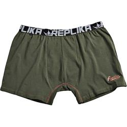 REPLIKA JEANS Fashion Trunks with Contrast Stitch detail OLIVE