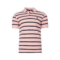 RAGING BULL  BRETON STRIPE POLO DENIM PINK/NAVY 3 - 6XL