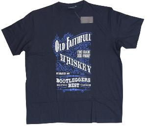 ESPIONAGE Cotton Tee 'Old Fasithful Whiskey' (NAVY) 3XL