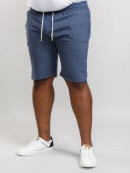D555  French TERRY SHORTS WITH CONTRAST EYELETS HAWKINS BLUE MARL 3 - 6XL