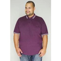 BAD RHINO Signature Polo shirt with White trim PURPLE
