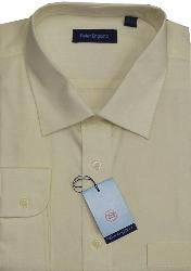 Classic by PETER ENGLAND Formal Shirt PRIDE PLAIN RANGE OATMEAL