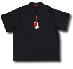 BAR HARBOUR Soft Touch Woven Polo  with Pocket BLACK 3XL