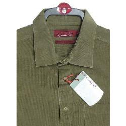 SALE - BAR HARBOUR Long Sleeve Corded Casual  Shirt KHAKI 3XL