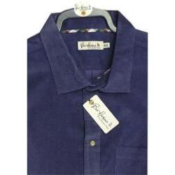 BAR HARBOUR Corded Casual  Shirt NAVY