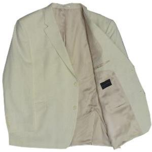 Big Size HUGO JAMES Linen mix Jacket BEIGE