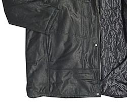 North 56'4 Genuine Leather coat BLACK