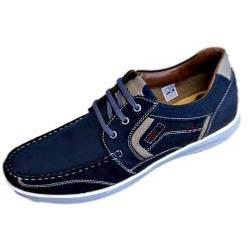 POD Casual Leather Lace up OSPREY NAVY