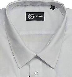 SALE - CARABOU Easy Care Long Sleeve Plain Shirt WHITE 2 XL