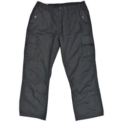 ESPIONAGE Cotton Canvas Cargo Trousers BLACK
