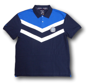 RAGING BULL Chevron Pique Polo shirt NAVY/ROYAL/WHITE 4XL