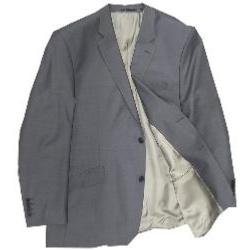 HUGO JAMES Wool/Lycra Bi-Stretch Suit JACKET YUNSA MID GREY