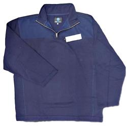 KAM Fleece lined 1/4 Zip Casual Top NAVY 2 - 6XL