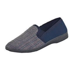 Zedzzz Tweed Effect Slipper CHARLES 11 - 16 UK
