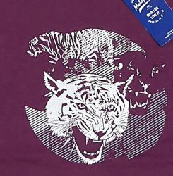 METAPHOR TIGER PRINTED T-SHIRT WINE 3 - 8XL