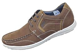 POD Casual Leather Lace up  HAWK BROWN 13 - 15 UK