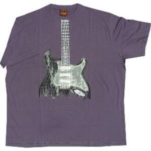 Metaphor Guitar Print Tee shirt PURPLE
