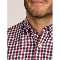 RAGING BULL SHIRTS - Long Sleeve Natural Cotton Check  NAVY/RED/WHITE  3 - 5XL