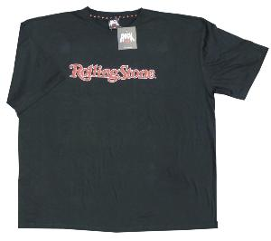 ROCK PLUS ROLLING STONE CLASSIC LOGO BLACK TEE SHIRT 4XL
