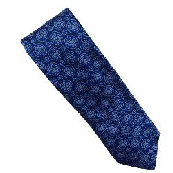 DOUBLE TWO Extra Long Tie NAVY / BLUE FLORAL