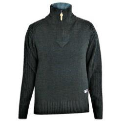 D555  QUARTER ZIP FUNNEL NECK SWEATER VITO CHARCOAL MARL 2 - 5XL