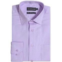 "DOUBLE TWO Herringbone Long Sleeve Formal Shirt  LILAC 19 - 22"" COLLAR / 3 - 6XL"