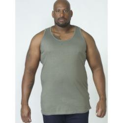 D555 BIG MENS MUSCLE VEST FABIO KHAKI 3 - 8XL