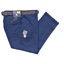 "OAKMAN Sulpher Dyed Cotton Chinos  with Active Stretch Lycra TWILIGHT 42- 54"" S/R"