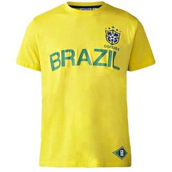 D555 Brazil Football Shirt YELLOW 4XL