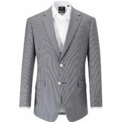 SALE - SKOPES  Linen/Wool Men's Striped Jacket - GIJON BLUE 54 - 56""